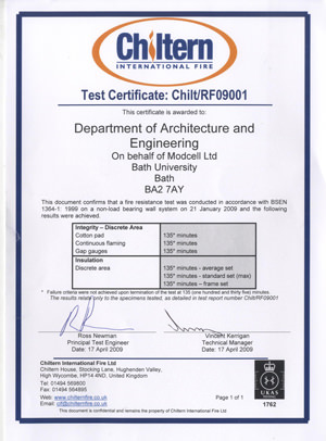 ModCell :: ModCell awarded Fire Certificate
